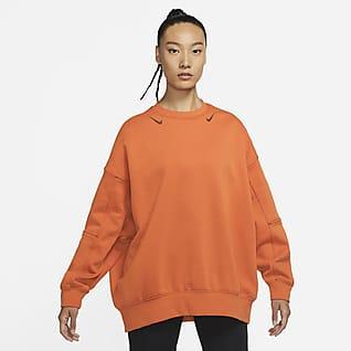 Nike Sportswear Swoosh Oversized 女子起绒圆领上衣