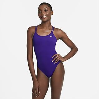 Nike HydraStrong Solid Hel baddräkt med korsade axelband i ryggen för kvinnor