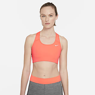 Nike Swoosh Bra deportivo sin almohadilla de sujeción media para mujer