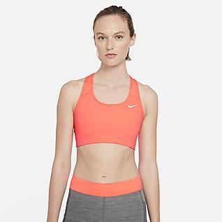 Nike Dri-FIT Swoosh Sutiã de desporto sem almofadas de suporte médio para mulher
