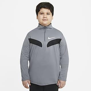Nike Sport Camiseta de entrenamiento de manga larga para niños talla grande (talla extendida)
