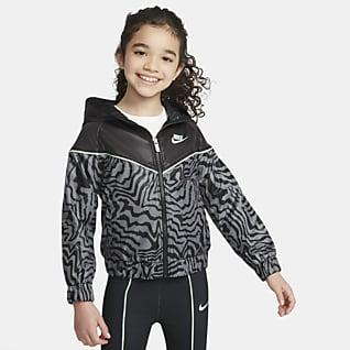 Nike Sportswear Windrunner Bunda se zipem po celé délce pro malé děti