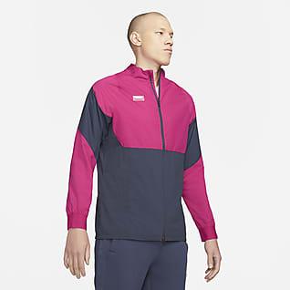 Nike F.C. AWF Chamarra de entrenamiento de fútbol de tejido Woven para hombre