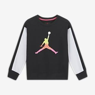 Jordan Kerek nyakkivágású pulóver nagyobb gyerekeknek (lányok)