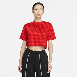 Nike Sportswear Icon Clash เสื้อเอวลอยโอเวอร์ไซส์ผู้หญิง