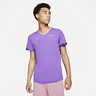 NikeCourt Dri-FIT ADV Rafa Kısa Kollu Erkek Tenis Üstü
