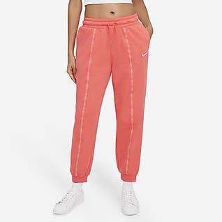 Nike Sportswear Icon Clash Pantalones de entrenamiento de tiro medio y tejido Fleece para mujer