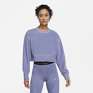 Nike Therma Icon Clash Haut de training à manches longues en tissu Fleece pour Femme