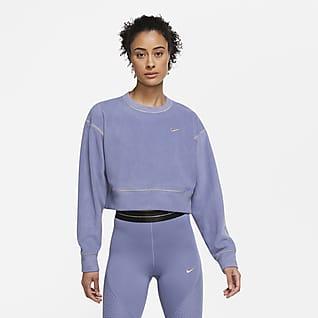Nike Therma Icon Clash Langarm-Fleece-Trainingsoberteil für Damen