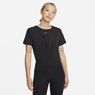 Nike Dri-FIT One Luxe 女款紐結標準剪裁短袖上衣