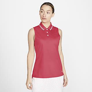 Nike Dri-FIT Victory Polo de golf sin mangas para mujer