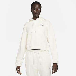 Jordan Essentials Γυναικεία φλις μπλούζα με κουκούλα
