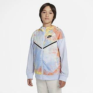 Nike Sportswear Windrunner Big Kids' (Boys') Tie-Dye Jacket