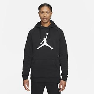 Jordan Jumpman Logo Sudadera con capucha sin cierre de tejido Fleece para hombre