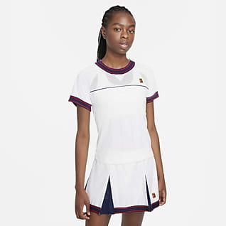 NikeCourt Dri-FIT Slam Tenniströja för kvinnor