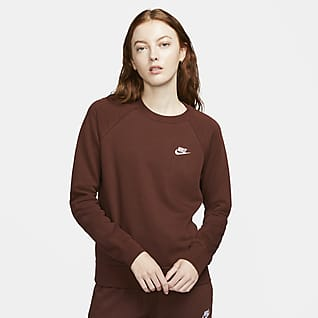 Nike Sportswear Essential Sudadera de cuello redondo de tejido Fleece para mujer