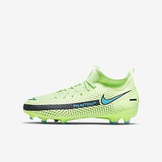 Nike Jr. Phantom GT Academy Dynamic Fit MG รองเท้าสตั๊ดฟุตบอลเด็กเล็ก/เด็กโตสำหรับพื้นหลายประเภท
