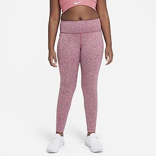Nike Dri-FIT One Luxe Leggings de cintura alta para niña talla grande  (talla extendida)