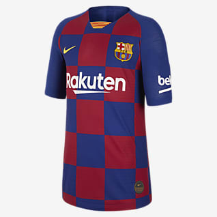 FC Barcelona 2019/20 Vapor Match Home Футбольное джерси для школьников