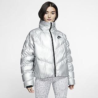 nike down fill bubble jacket white