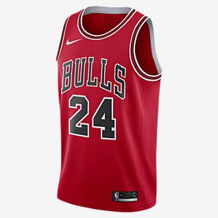 Lauri Markkanen Bulls Icon Edition Nike NBA Swingman drakt til herre