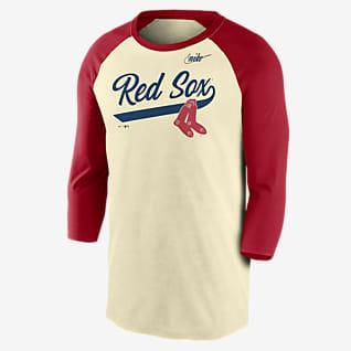 Nike Cooperstown Script (MLB Boston Red Sox) Men's 3/4-Sleeve T-Shirt