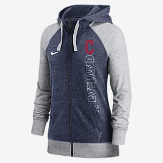 Nike In Pocket Gym Vintage (MLB Cleveland) Women's Full-Zip Hoodie