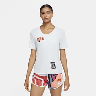 Nike City Sleek Berlin Kurzarm-Laufoberteil für Damen