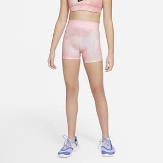 "Nike Pro Big Kids' (Girls') Tie-Dye 3"" Shorts"