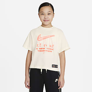 Nike Sportswear Big Kids' (Girls') Boxy T-Shirt