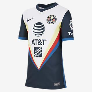 Club América 2020/21 Stadium de visitante Camiseta de fútbol para niños talla grande