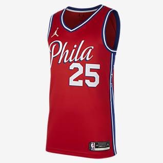 2020 赛季费城 76 人队 (Ben Simmons) Statement Edition Jordan NBA Swingman Jersey 男子球衣