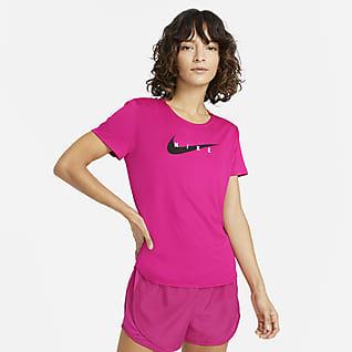 Nike Swoosh Run Kortermet løpeoverdel til dame