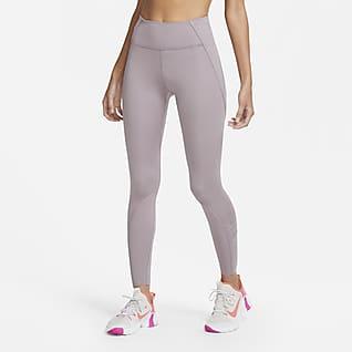 Nike One Luxe Γυναικείο κολάν 7/8 με κορδόνια
