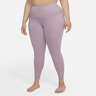 Nike Yoga Dri-FIT Women's High-Waisted 7/8 Cut-Out Leggings (Plus Size)