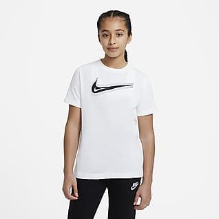 Nike Sportswear Футболка с логотипом Swoosh для школьников