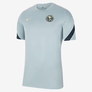 Club América Strike Camiseta de fútbol de manga corta para hombre