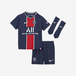 Paris Saint-Germain 2020/21 (hemmaställ) Fotbollsställ för baby/små barn