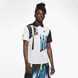 NikeCourt Advantage Erkek Tenis Polo Üstü