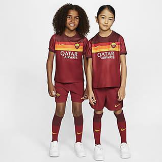 A.S. Roma 2020/21 (hjemmedrakt) Fotballdraktsett til små barn