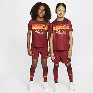 AS Roma de local 2020/21 Kit de fútbol para niños talla pequeña