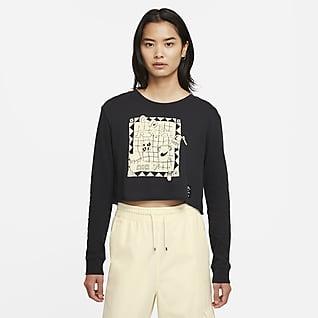 Nike Sportswear 女款短版長袖 T 恤