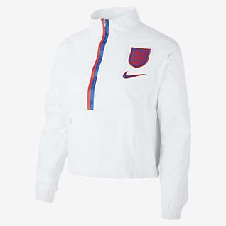 England Женская футбольная куртка с молнией длиной 1/4