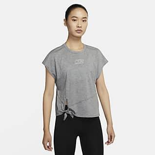 Nike Dri-FIT Женская футболка с коротким рукавом для тренинга