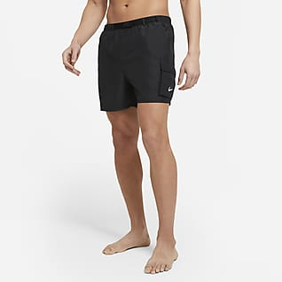 Nike Calções de banho dobráveis de 13cm com cinto para homem