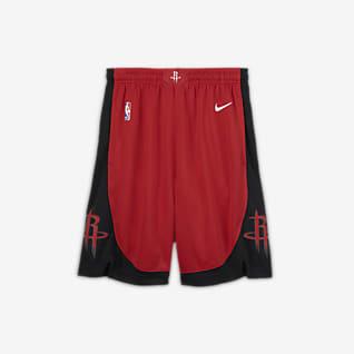 Houston Rockets Icon Edition Spodenki dla dużych dzieci Nike NBA Swingman