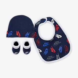 Nike Conjunto de gorro, babero y calzado para bebé (0 a 6 meses)