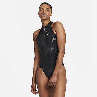 Nike Streak Women's Zip-Front 1-Piece Swimsuit