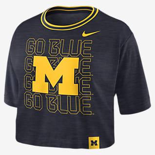 Nike College (Michigan) Women's Crop T-Shirt