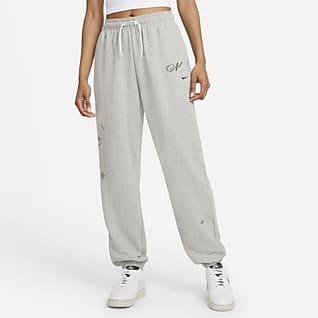 Nike Sportswear Icon Clash Overdimensionerede joggers i fleece til kvinder